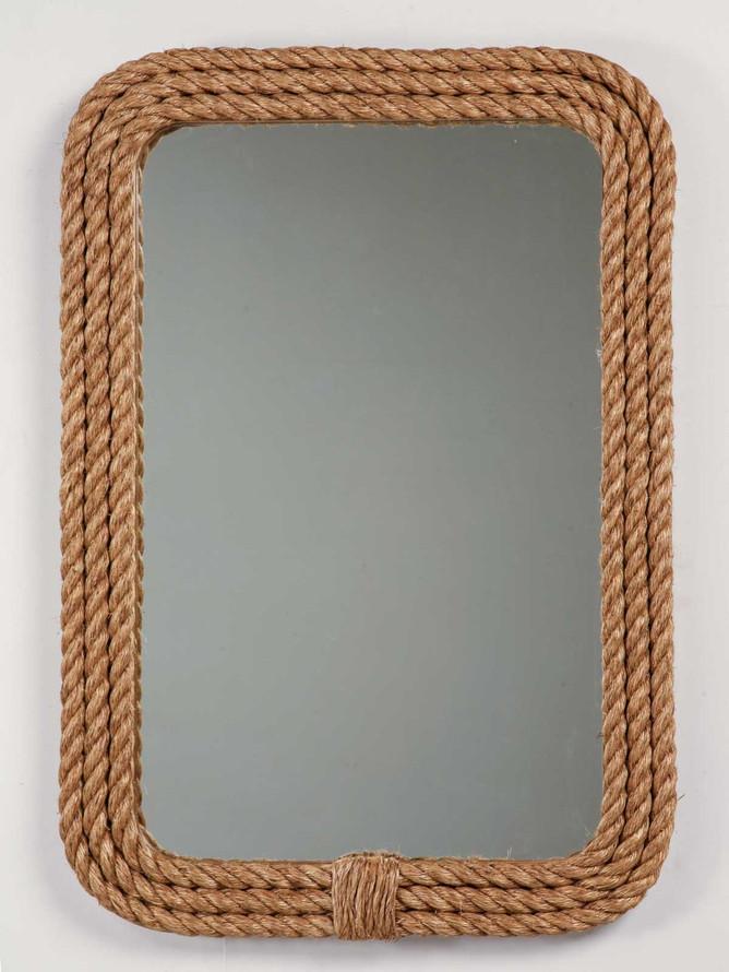 Custom Rope Border Rectangular Mirror