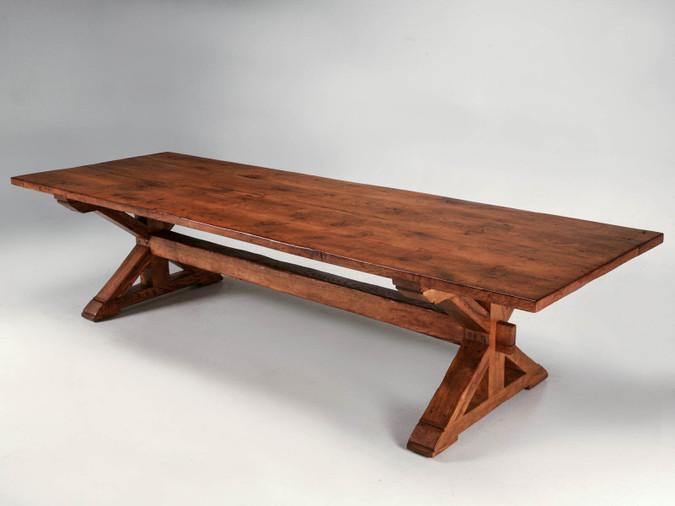 Custom Made French White Oak Table Main