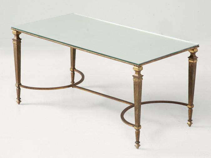 Vintage Maison Jansen Gilt Bronze Coffee Table