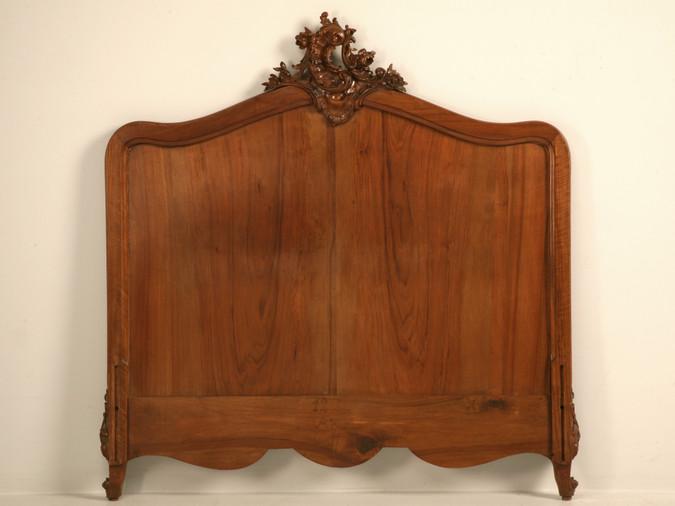Antique French Rococo/Louis XV Walnut Headboard