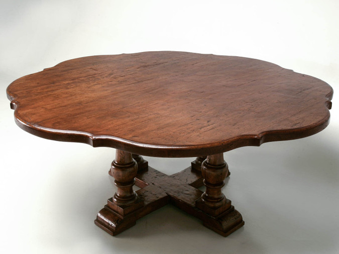Custom White Oak Clover Leaf Dining Table Front