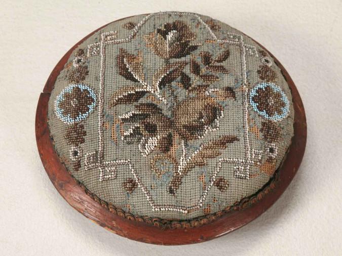 c.1900 Antique English Victorian Footstool