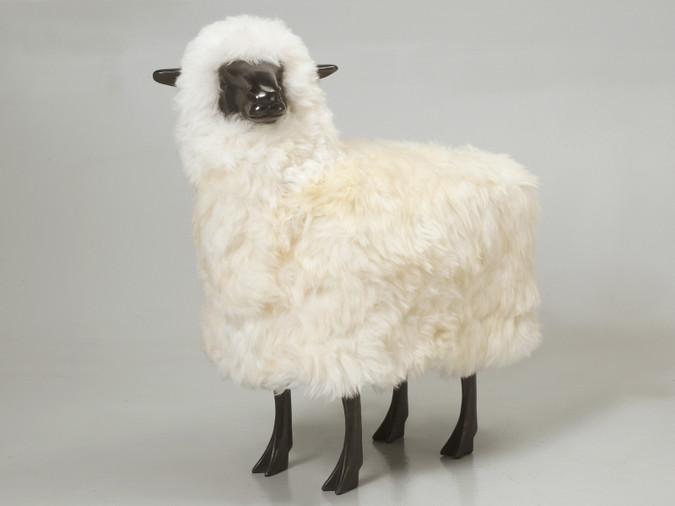 Lifesize Bronze Sheep, Head Canted Left Main