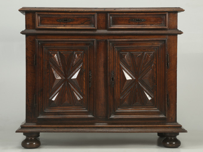 Antique French Louis XIII Style Buffet from the Mid-1700s Front