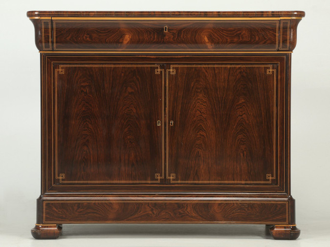 Antique French Rosewood Commode/Buffet with Pull-Out Desk