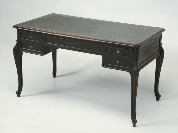 French Louis XV Style Original Ebonized Desk