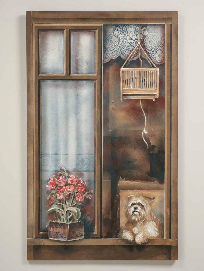 """""""Dog in the Window"""" by Zuleyka Benitez"""