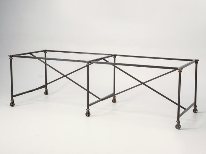 Kitchen Island made from Steel & Solid Bronze