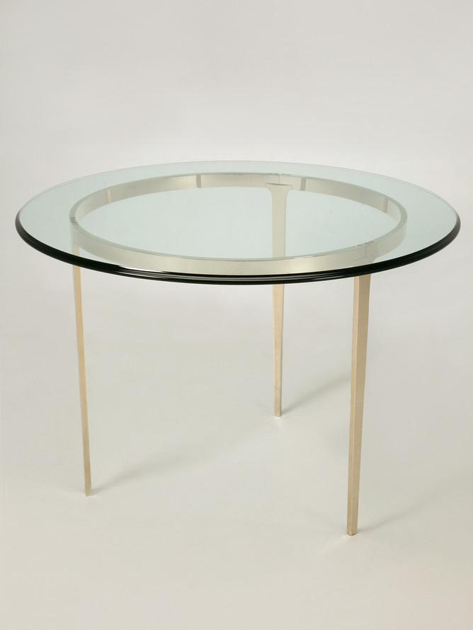 Custom Handmade Center Hall Table in Solid Bronze Main