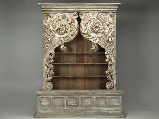 Antique Italian Rococo Bookcase or Cabinet