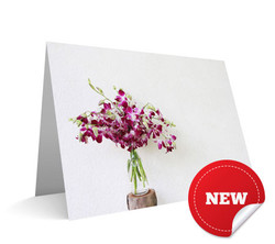 """""""Jar of Orchids"""" Card"""