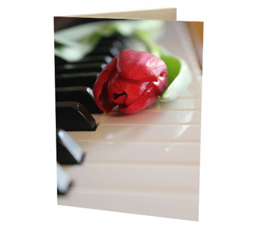 """Piano & Tulip"" Card"