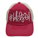 #Blessed Trucker Cap - Red