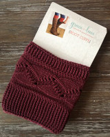 Cable Knit Boot Cuffs - Wine