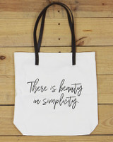 G&L Inspirational Quote Tote  (Quote: There is beauty in simplicity)