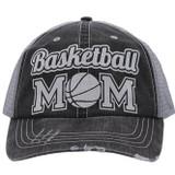 Basketball Mom Trucker Cap - Distressed Grey