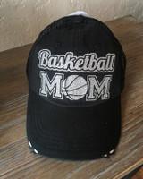 Basketball Mom Trucker Cap (Silver) - Black