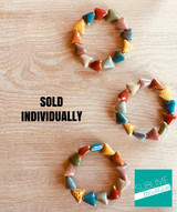 Clay Bracelets - Triangles - Multicolored