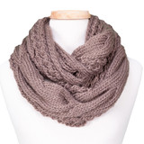 Tickled Pink Knit Winter Infinity Scarf - CAN650 - Toupe