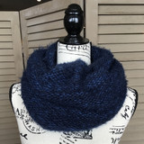 Tickled Pink Knit Winter Infinity Scarf - CWL822 - BLUE
