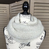 Tickled Pink Knit Winter Infinity Scarf - CWL822 - Cream