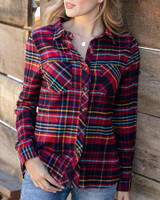 Grace and Lace Stretch-Flex Flannel Plaid Shirt - Aberdeen Plaid
