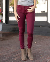 Grace and Lace Colored Jeggings - Wine