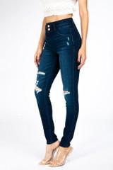 Kan Can High Rise Super Skinny Jeans - KC7296D-Dark