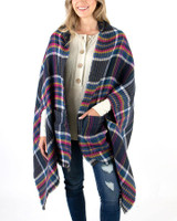 Grace and Lace Reversible Pocket Poncho - Midnight Dot