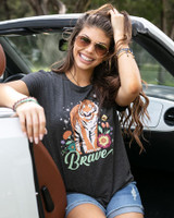 Grace and Lace Perfect Crew Neck Graphic Tee - Brave Tiger