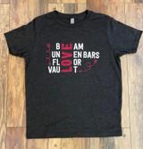 Beam, Uneven Bars, Floor, Vault, Love - Dark Grey (Large) (10/12)