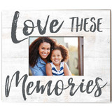 Love These Memories Weathered Slat Photo Frame