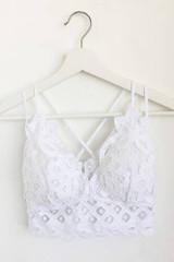 Crochet Lace Bralette - White