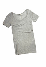 Grace and Lace Perfect Fit Short Sleeve - Heathered Grey