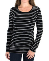Grace and Lace Perfect Fit Long Sleeve - Black/Grey Stripe