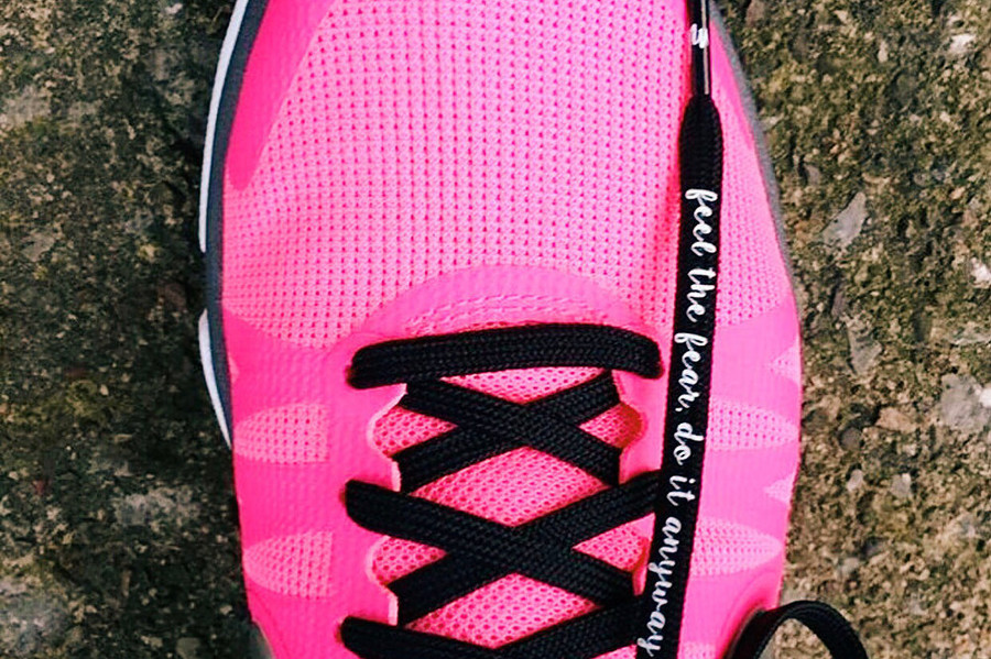 """Feel the Fear, Do it Anyway Shoe Laces – 52"""""""