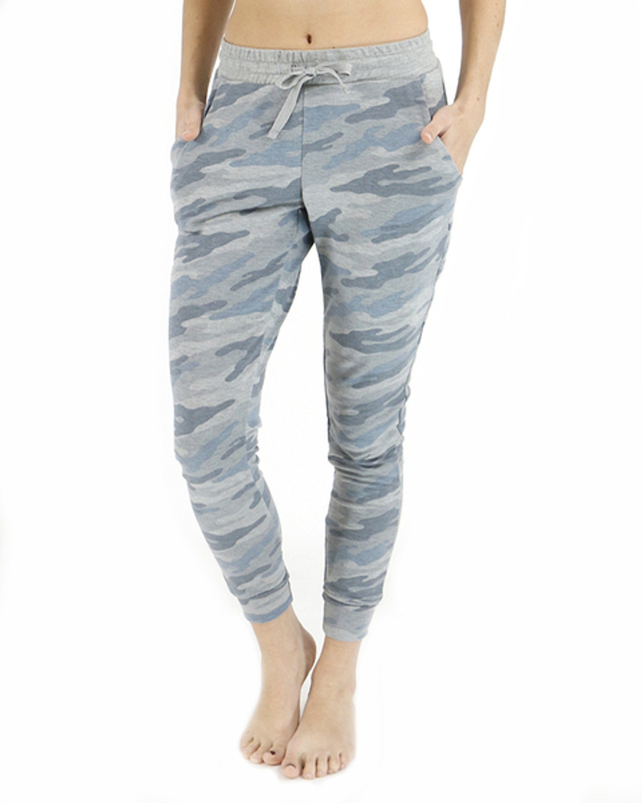 Grace and Lace Grey Camo Joggers