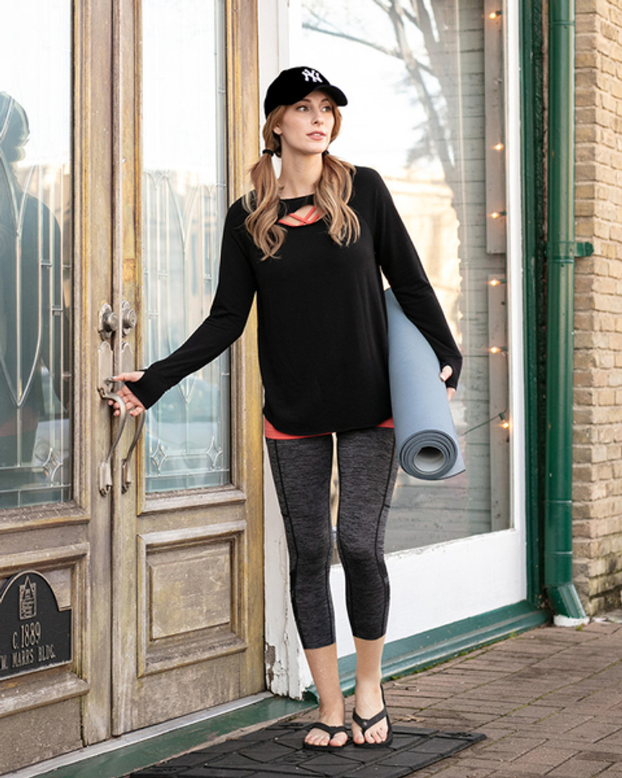 Grace and Lace Athleisure Pocket Legging - Charcoal