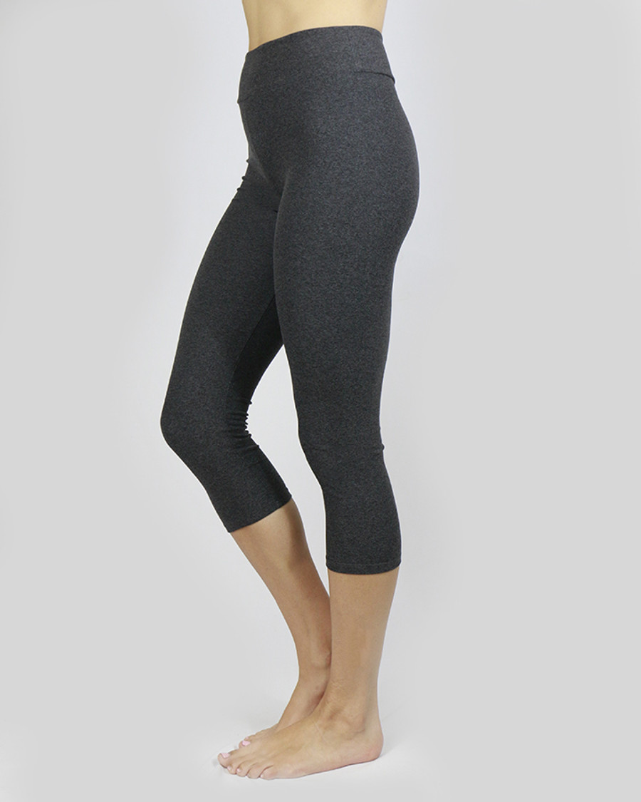 Grace and Lace Live-in Capris - Heathered Charcoal