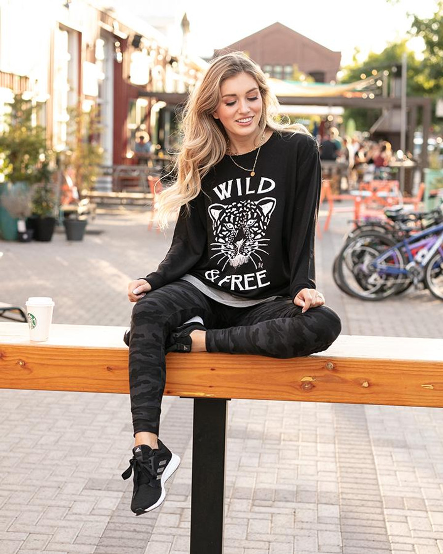 Grace and Lace Graphic Sweatshirt - Wild & Free