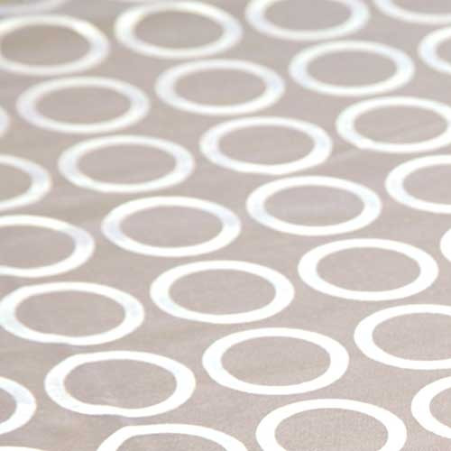 """Sheer """"White Ringlets"""" Tablecloth"""