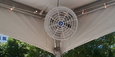 Industrial sized tent fans