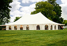 Wedding venue tent rental