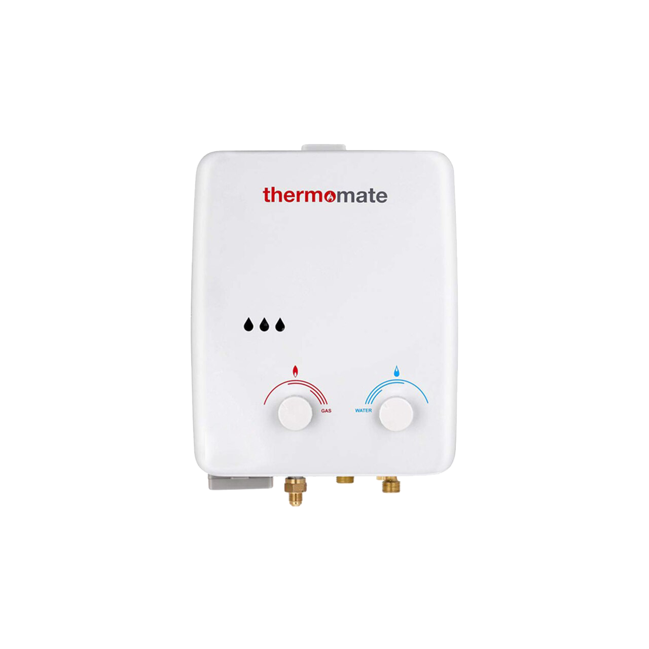 Thermomate Propane Tankless Gas Water Heater 1.32 GPM Portable with Overheating Protection