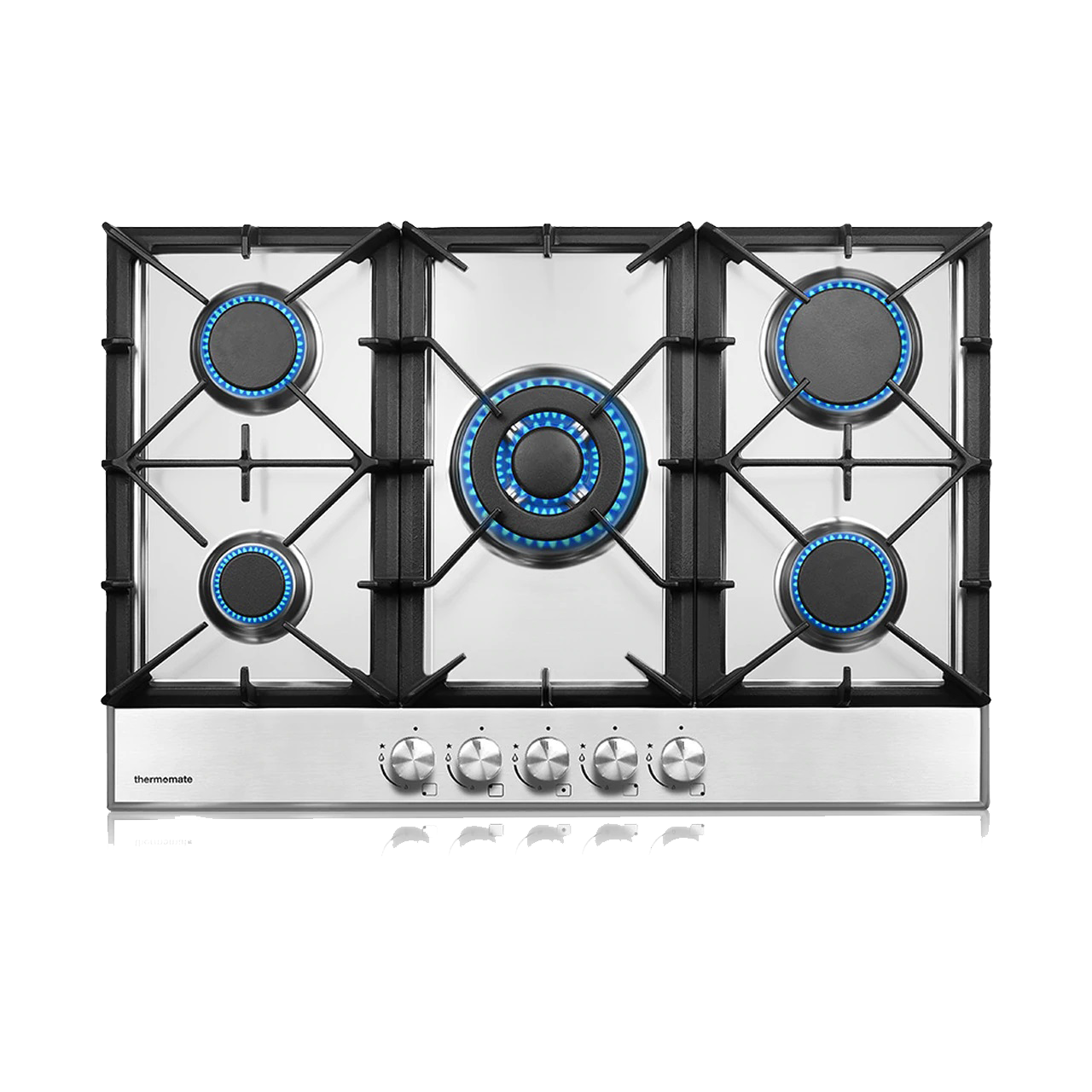Thermomate Gas Cooktop 30 Inch Built-in Stainless Steel Gas Stove Top with 5 Burners