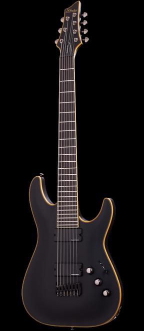 Schecter Blackjack ATX C-7 Seven String Electric Guitar Aged Black Satin