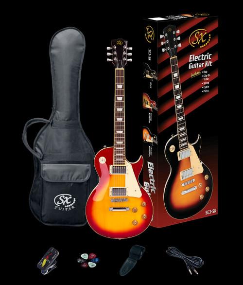 Essex SX SE3 LP Style Electric Guitar Cherry Sunburst + Accessories Pack
