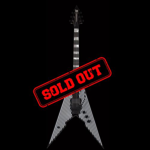 Schecter Zakk Wylde Viking Pinstripe FR Electric Guitar Black and White