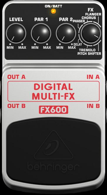Behringer FX600 Digital Stereo Multi-FX Guitar Effects Pedal Stompbox