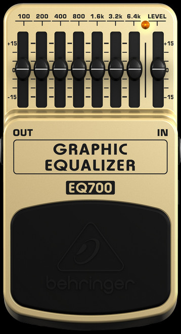 Behringer EQ700 Graphic Equaliser Guitar Effects Pedal Stompbox